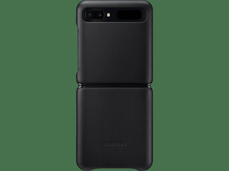 SAMSUNG Cover Leather Galaxy Z Flip Zwart (EF-VF700LBEGEU)
