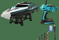 JAMARA Climater Speedboot Li-Ion 7,4V 2,4GHz R/C Spielzeugboot, Türkis/Weiß