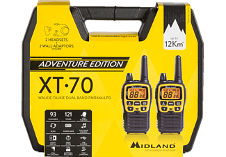 MIDLAND XT70 Adventure Walkie Talkie Schwarz/Gelb