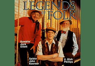 Ramblin  Jack & Spider Joh Elliott - LEGENDS OF FOLK  - (CD)