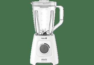 KRUPS KB42Q1 Blendforce 2in1 Standmixer Weiß/Dunkelgrau (600 Watt, 1.25 Liter Mixbehälter, 1 Liter Entsafterbehälter)