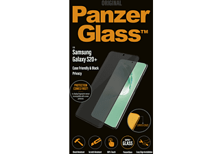 PANZERGLASS Privacy Case Friendly Zwart voor Samsung Galaxy S20+