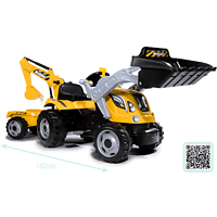 SMOBY Smoby Traktor Builder Max gelb Kindertraktor, Gelb