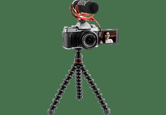 FUJIFILM X-T200 Dark Silver, Vlogger-Kit XC 15-45mm, 16GB SDHC, Joby GorillaPod 1K, Rode VideoMic Go