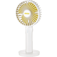 UNOLD Breezy II 86620 Handventilator Weiß/Gelb (4 Watt)