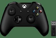 MICROSOFT Xbox Controller + Wireless Adapter für Windows Controller} Schwarz