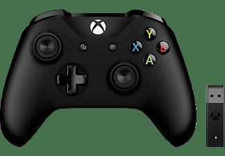 MICROSOFT Xbox Controller + Wireless Adapter für Windows Controller Schwarz