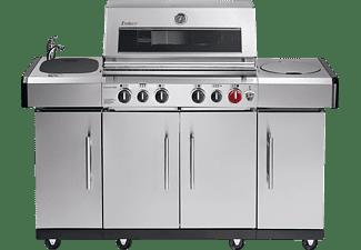 ENDERS 8711 Kansas Pro 4 SIK Profi Turbo Gasgrill, Edelstahl (22300 Watt)
