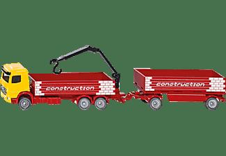 SIKU Baustoff-LKW mit Anhänger Modellfahrzeug, Mehrfarbig