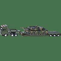 SIKU Militärtransporter mit Panzer Modellfahrzeug