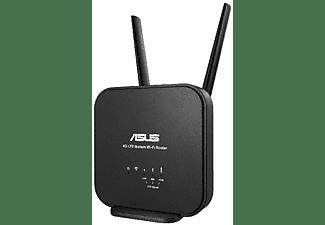 Router - Asus, 4G-N12 B1, Wireless N300 4G LTE, Fibra/ADSL, Doble antena, Negro