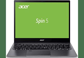 ACER Spin 5 (SP513-54N-79EY), Convertible mit 13,5 Zoll Display, Core™ i7 Prozessor, 16 GB RAM, 1 TB SSD, Intel® Iris® Plus Grafik, Steel Gray