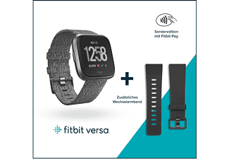 FITBIT Versa SE Smartwatch Aluminium  Gewebearmband, S-L, Charcoal Woven