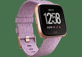 FITBIT Versa SE Smartwatch Aluminium Gewebearmband, S-L, Lavender Woven