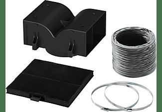 Accesorio campana extractora - Bosch DHZ5325, Set recirculación tradicional, Filtro de carbón activo, Negro