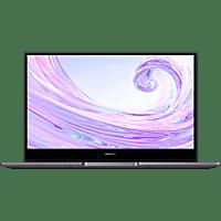 HUAWEI Matebook D14, Notebook mit 14 Zoll Display, Ryzen™ 5 Prozessor, 8 GB RAM, 512 GB SSD, Radeon™ Vega 8 Grafik, Grau