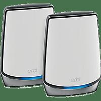 NETGEAR WLAN Router Orbi Wi-Fi 6 AX6000 RBK852 und Satellit, 2er-Set (RBK852-100EUS)