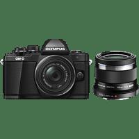 OLYMPUS OM-D E-M10 Mark II PORTRAIT KIT Systemkamera 16.1 Megapixel mit Objektiv 14-42 mm + 45mm, 7,6 cm Display Touchscreen, WLAN