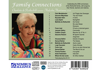 Malcolm Martineau, Charlotte De Rothschild - Family Connections  - (CD)