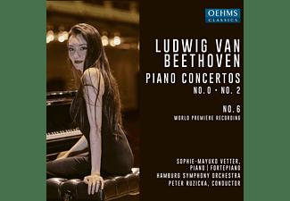 Vetter,Sophie-Mayuko/Ruzicka,Peter/Hamburg SO - Klavierkonzerte 0,2 und 6  - (CD)