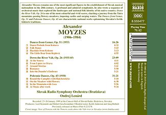 Ondrej Lenard, Slovak Rso - Dances from Slovakia  - (CD)