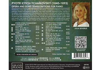 Julia Severus - Tschaikowski: Operntranskriptionen für Klavier  - (CD)