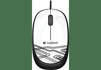 LOGITECH PC Maus M105 Optical, USB, weiß