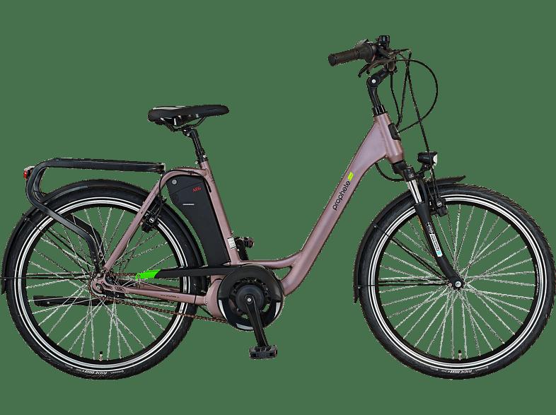 PROPHETE GENIESSER 20.EMC.10 Citybike Laufradgrösse 26 Zoll, Rahmenhöhe 49 cm, Damen-Rad, 417.5 Wh, Grau