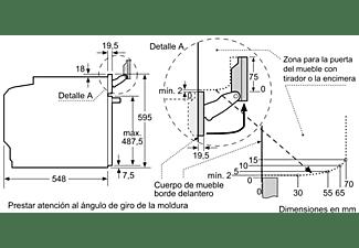 Horno Vapor Combinado 60Cm - Bosch HRG6769S6, 3600 W, 50; 60 Hz, A, Acero inoxidable