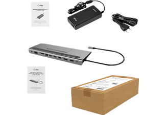 I-TEC C31FLATPLUS112W Dockingstation, Grau