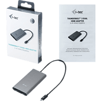 I-TEC TB3DUAL4KHDMI Adapter, Silber