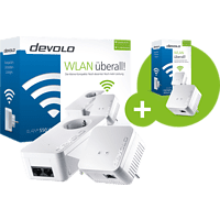 DEVOLO dLAN® 550 WiFi Starter Kit + dLAN® 550 WiFi Starter Kit 500 Mbit/s Kabellos und Kabelgebunden