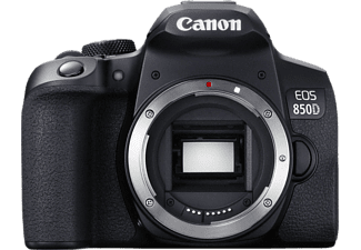 CANON EOS 850D Body Spiegelreflexkamera, 4K, Full HD, HD, Touchscreen Display, WLAN, Schwarz