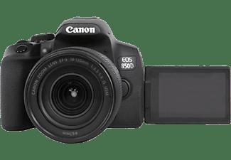 CANON EOS 850D Kit Spiegelreflexkamera, 4K, Full HD, HD, 18-135 mm Objektiv (EF-S, IS II, USM), Touchscreen Display, WLAN, Schwarz