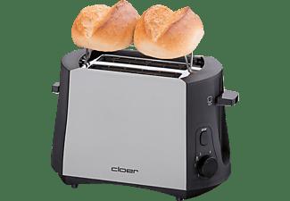 CLOER 3410 Toaster Schwarz (825 Watt, Schlitze: 2)