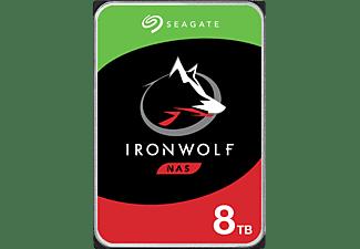 SEAGATE IronWolf Festplatte Bulk, 8 TB HDD SATA 6 Gbps, 3,5 Zoll, intern