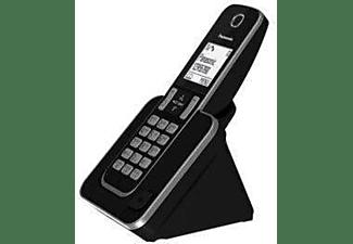 Teléfono - Panasonic KX-TGD310SPS, Duo, Fijo Inalámbrico, LCD, Agenda 120, Bloqueo de Llamada, Modo ECO, Negro