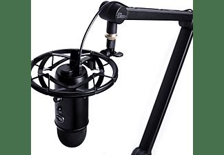 BLUE MICROPHONES Streaming Mikrofon Yeticaster Pro Bundle schwarz mit Yeti Mikrofon, Radius III und Compass (988-000247)
