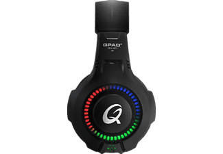 QPAD ® QH20 RGB Multiplatform, Over-ear Gaming Headset Schwarz