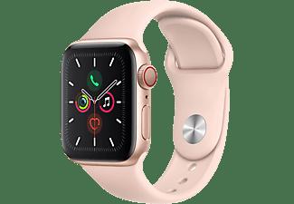 APPLE Watch Series 5 GPS + Cell 40mm Aluminiumgehäuse Gold mit Sportarmband Sandrosa