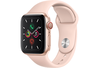 APPLE Watch Series 5 GPS + Cell 40mm Aluminiumgehäuse Gold mit Sportarmband Sandrosa