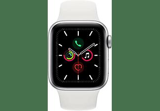 APPLE Watch Series 5 GPS + Cell 40mm Aluminiumgehäuse Silber mit Sportarmband Weiß