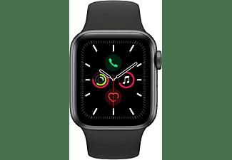 APPLE Watch Series 5 GPS + Cell 40mm Aluminiumgehäuse Space Grau mit Sportarmband Schwarz
