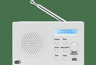 OK. ORD 101 BT-WT DAB+ Radio, DAB, DAB+, FM, Bluetooth, Weiß