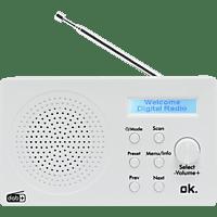 OK. ORD 101 BT-WT DAB+ Radio, Weiß