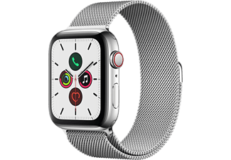 APPLE Watch Series 5 GPS + Cell 44mm Edelstahlgehäuse mit Edelstahl Milanaise Armband