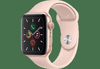APPLE Watch Series 5 GPS 44mm Aluminiumgehäuse Gold mit Sportarmband Sandrosa