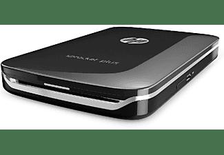Impresora fotográfica - HP Sprocket Plus, Bluetooth, ZINK, Impresión sin tinta, Compacta, Negro