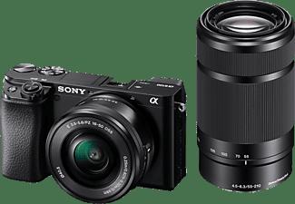 SONY Alpha 6100 Doublezoom Kit (ILCE-6100Y) Systemkamera mit Objektiv 16-50 mm, 55-210 mm, 7,6 cm Display Touchscreen, WLAN
