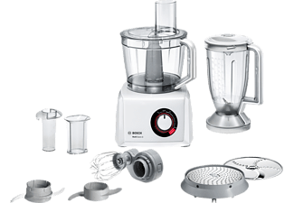 BOSCH MC812W501 Kompaktküchenmaschine Weiß (Rührschüsselkapazität: 2,4 Liter, 1000 Watt)